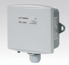 Eldstadens undertrycksgivare för luft Produal PEL-DK, +-100 Pa, 0-10 V