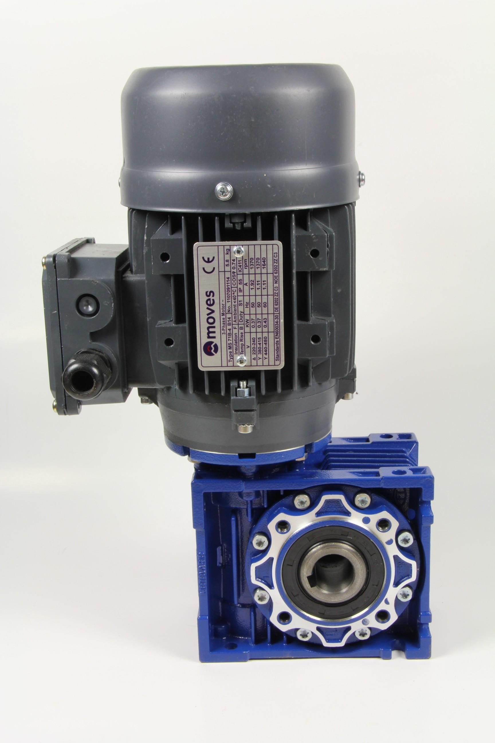 Moottori + kierukkavaihde, 0,12kW, 9rpm, PS10